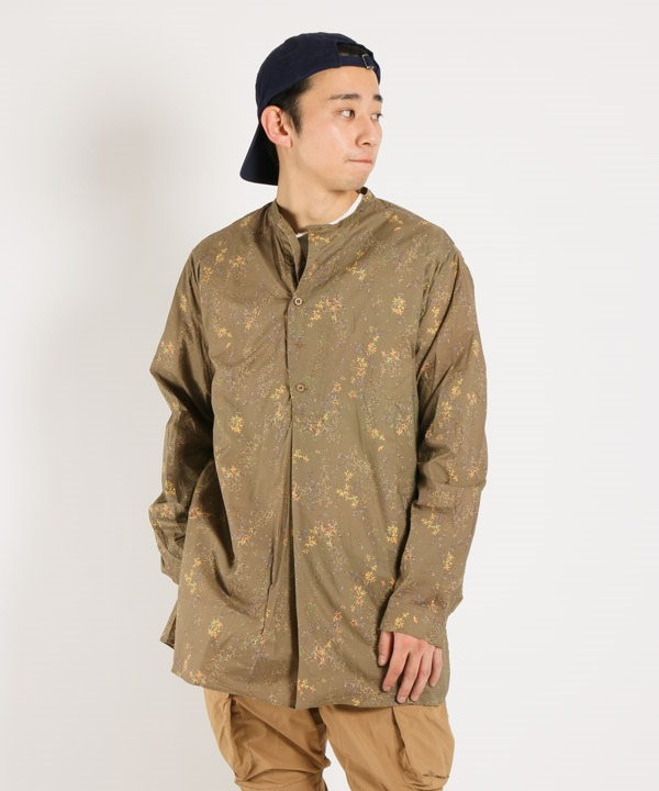 SCIENTIST PULLOVER LONG SHIRT COTTON LAWN LIBERTY PRINT【nonnative / ノンネイティブ】■SALE■