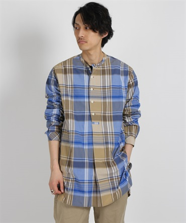SCIENTIST PULLOVER LONG SHIRT R/P MADRAS PLAID【nonnative / ノンネイティブ】■SALE■