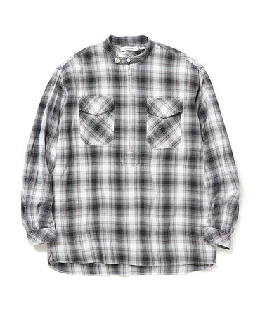 WORKER PULLOVER SHIRT RELAXED FIT COTTON OMBRE PLAID【nonnative / ノンネイティブ】■SALE■