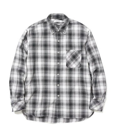 DWELLER B.D. SHIRT RELAXED FIT COTTON OMBRE PLAID 【 nonnative / ノンネイティブ 】■SALE■