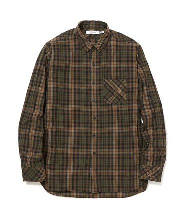 DWELLER B.D. SHIRT COTTON TYPEWRITER PLAID【nonnative / ノンネイティブ】■SALE■