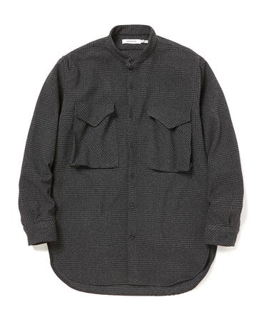 HUNTER LONG SHIRT POLY TWEED GLEN PLAID 【nonnative / ノンネイティブ】