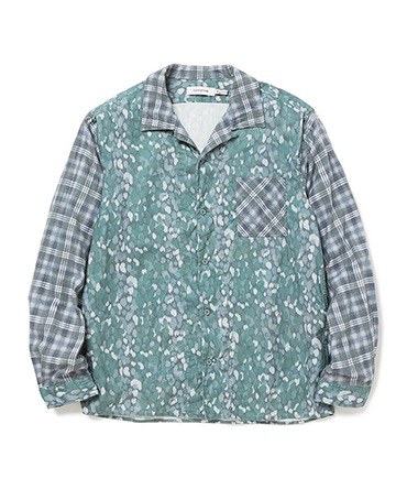BOWLER SHIRT COTTON OXFORD LIBERTYR PRINT COTTON TWILL PLAID PRINT 【 nonnative / ノンネイティブ 】■SALE■