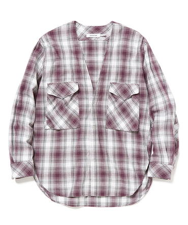 CARPENTER SHIRT JACKET COTTON OMBRE PLAID【nonnative / ノンネイティブ】■SALE■