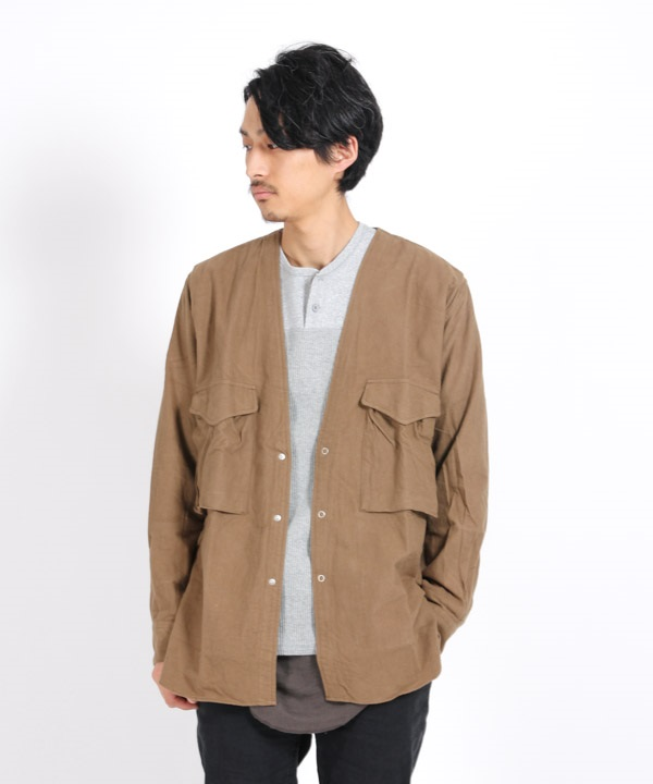 CARPENTER SHIRT JACKET COTTON FLANNEL 【nonnative / ノンネイティブ】(ベージュ-1)