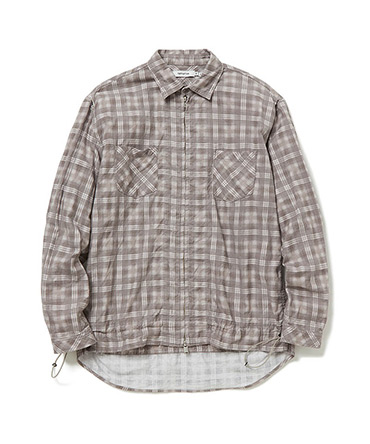 WORKER SHIRT JACKET COTTON TWILL PLAID PRINT 【 nonnative / ノンネイティブ 】