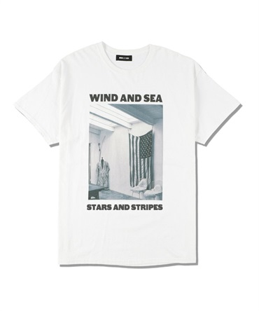 WDS (STARS AND STRIPES) PHOTO T-SHIRT 【 WIND AND SEA / ウィンダンシー 】