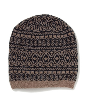 【men's FUDGE掲載】CAT'SEYE PATTERN KNIT CAP