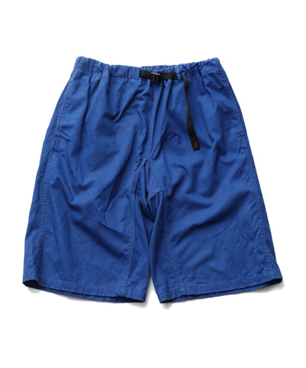 WM x Gramicci GARMENT DYED WIDE SHORTS 【White Mountaineering / ホワイトマウンテニアリング】■SALE■(ブルー-1)