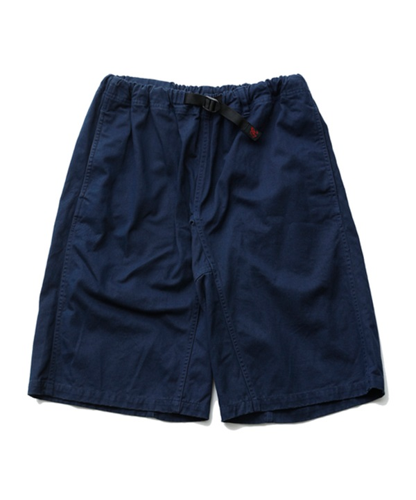 WM x Gramicci GARMENT DYED WIDE SHORTS 【White Mountaineering / ホワイトマウンテニアリング】■SALE■(ネイビー-1)