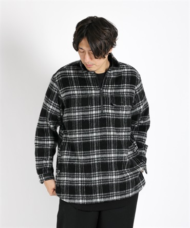 CHECK SHAGGY BIG PULLOVER SHIRT チェックシャツ【White Mountaineering / ホワイトマウンテニアリング】■SALE■