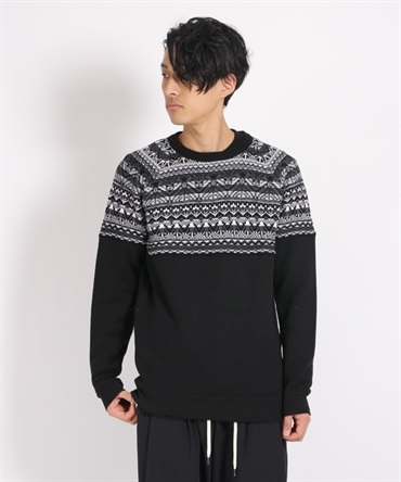 CONTRASTED JACQUARD KNIT ジャカードニット【White Mountaineering / ホワイトマウンテニアリング】■SALE■