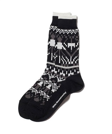JACQUARD MIDDLE SOCKS B【White Mountaineering / ホワイトマウンテニアリング】