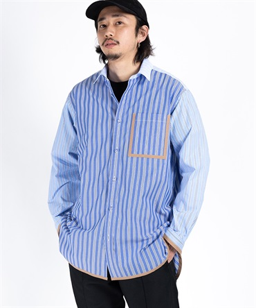 STRIPED BIG SHIRT 【 White Mountaineering / ホワイトマウンテニアリング 】