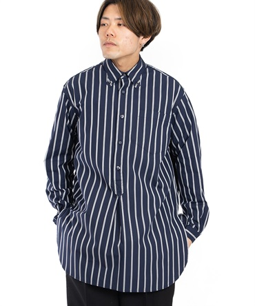 STRIPE LONG PULLOVER SHIRT 【 White Mountaineering / ホワイトマウンテニアリング 】