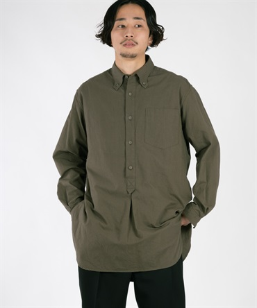 SEERSUCKER LONG PULLOVER SHIRT 【 White Mountaineering / ホワイトマウンテニアリング 】