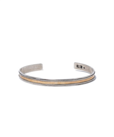 925 Silver Bracelet with Brass 925 シルバー ブレスレット ウィズ ブラス 【hobo / ホーボー】