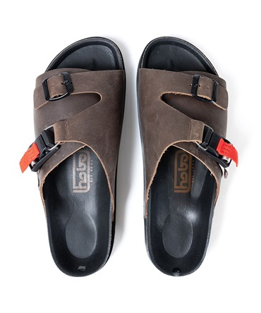 COW LEATHER SANDAL with FIDLOCKR? BUCKLE  カウレザーサンダル【hobo/ホーボー】■SALE■