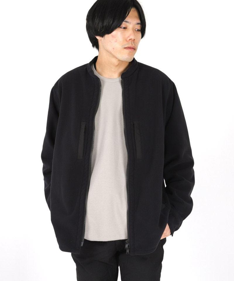 HIKER SHIRT JACKET POLY FLEECE POLARTEC® WITH POLY TWILL Pliantex® 【 nonnative / ノンネイティブ 】(ブラック-1)