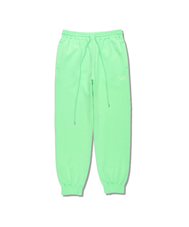 SEA (pigment-dye) SWEAT PANTS 【 WIND AND SEA / ウィンダンシー 】(グリーン-M)